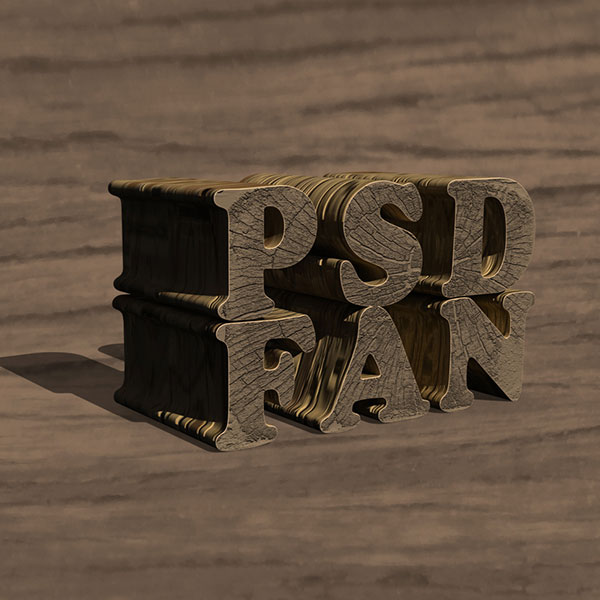 Create a Textured Wooden Text Effect Using Photoshop's 3D Capabilities