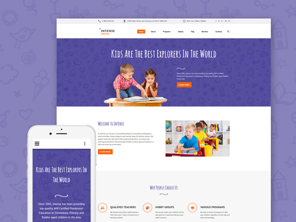 Child Care Center Website Template
