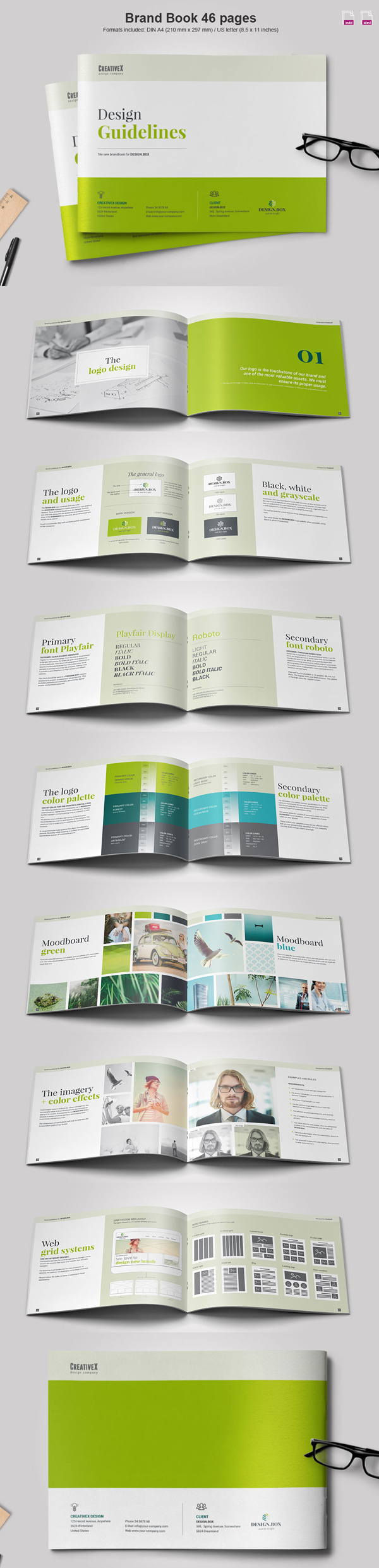 Landscape Brand Book Brochure Template