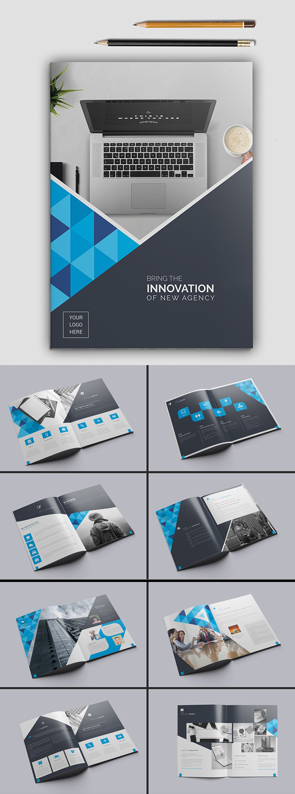 100 Professional Corporate Brochure Templates - 2
