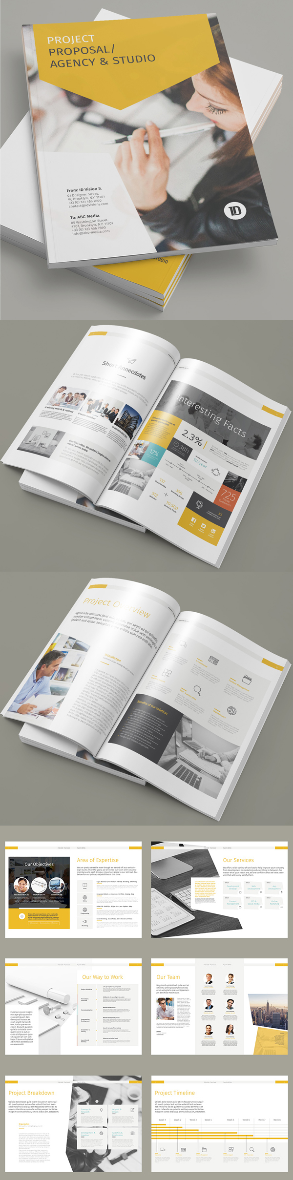 100 Professional Corporate Brochure Templates - 13