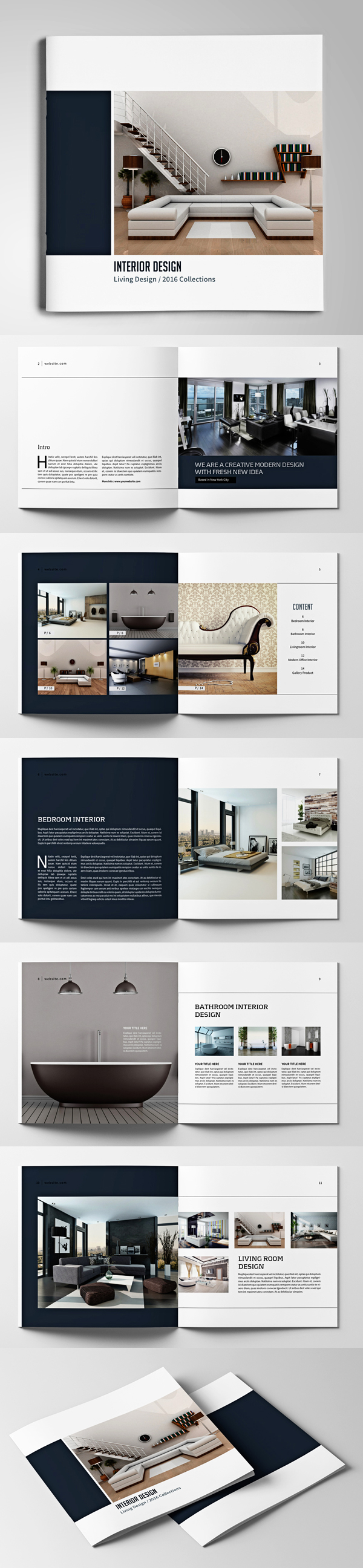Square Brochure / Catalogs Template