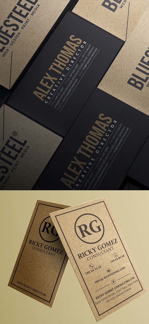 Kraft Paper Business Cards Design