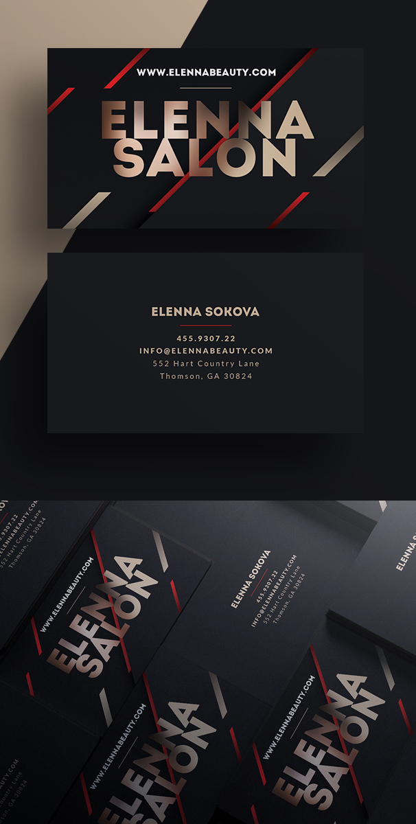 Luxury Business Card PSD Template