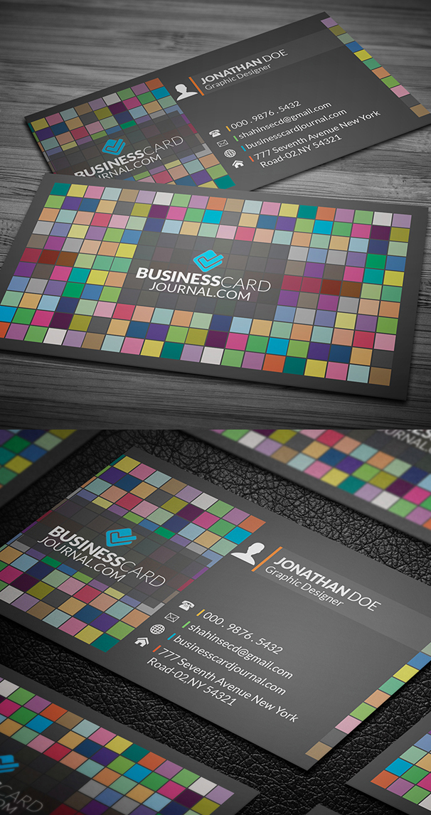 Box Business Card PSD Template