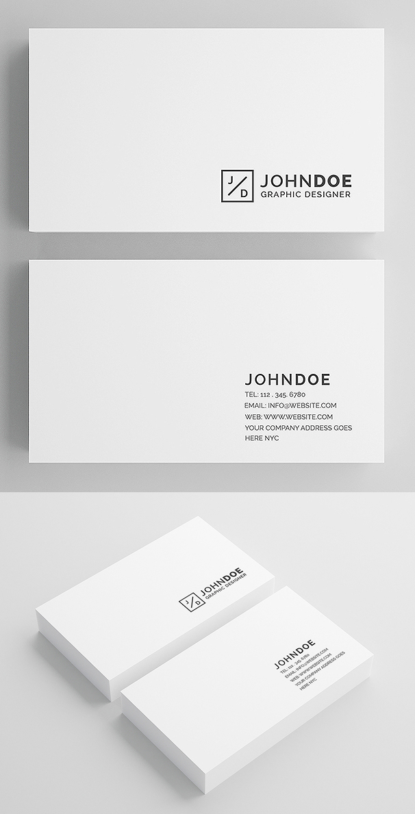 Minimal White Modern Business Card