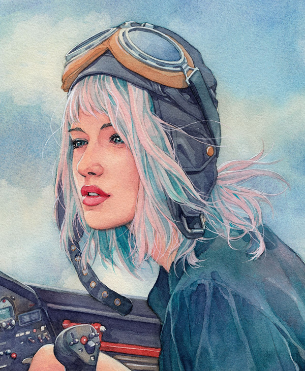 Amazing Watercolor Portrait Illustrations By Hector Trunnec - 10