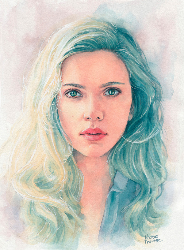 Amazing Watercolor Portrait Illustrations By Hector Trunnec - 6