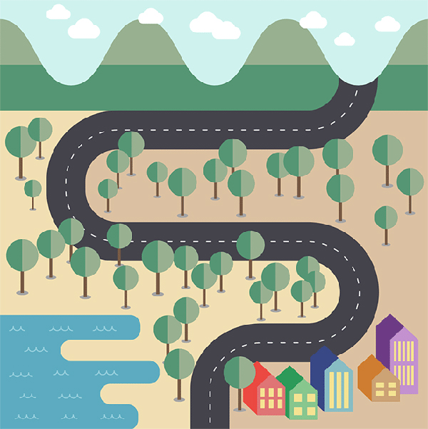 How To Create a Flat Style Vector Map in Adobe Illustrator