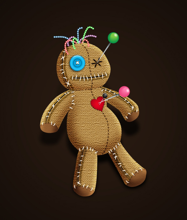 How to Create a Spooky Voodoo Doll in Adobe Illustrator