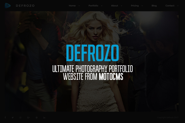 Defrozo: Trendy Photography Portfolio Theme from MotoCMS
