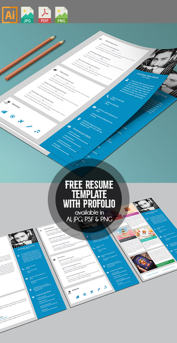 Free Resume/CV with Cover letter & Protfolio