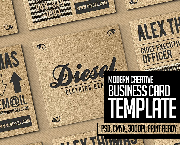 25 New Modern Business Card Templates (Print Ready Design)