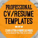Post thumbnail of New Professional CV / Resume Templates with Cover Letter