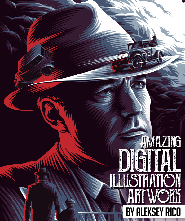 amazing digital illustrated posters by aleksey rico