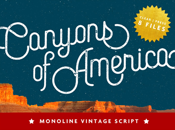 Canyons Vintage Free Font