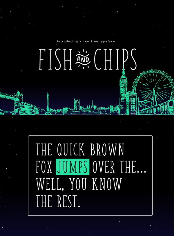 Fish & Chips (Serif and Handwritten) Free Font