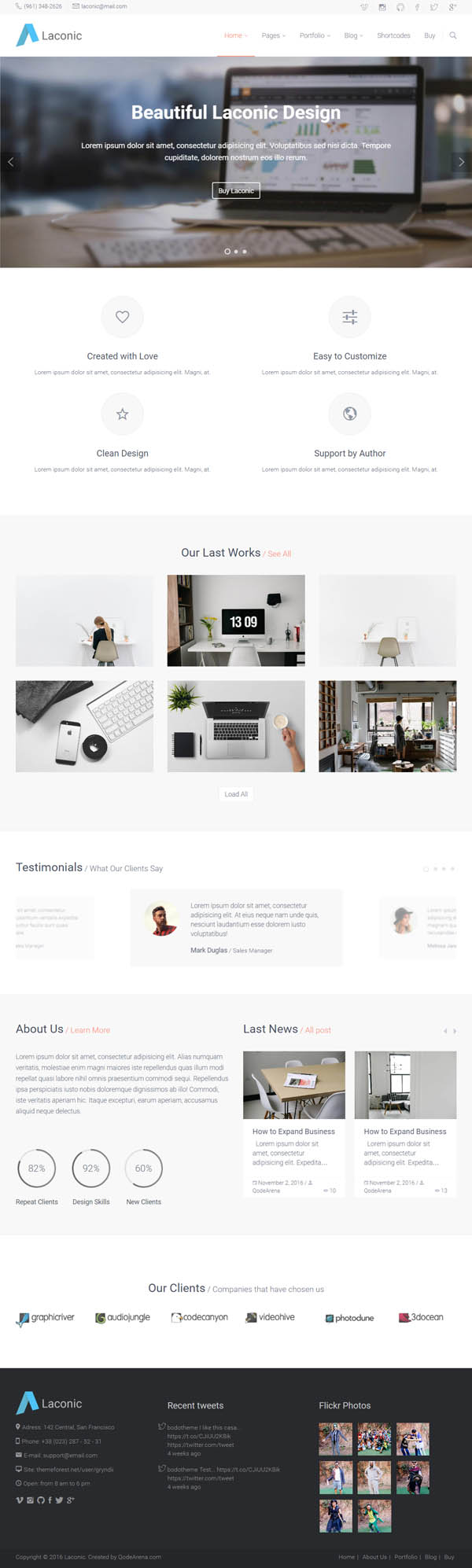 New WordPress Themes with Modern Design and Features | Wordpress ...