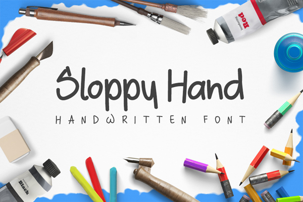 Sloppy Free Brush Font