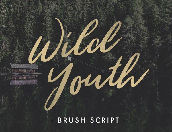 Wild Youth Free Brush Font