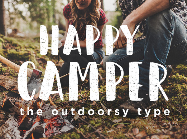 Happy Camper Free Brush Font