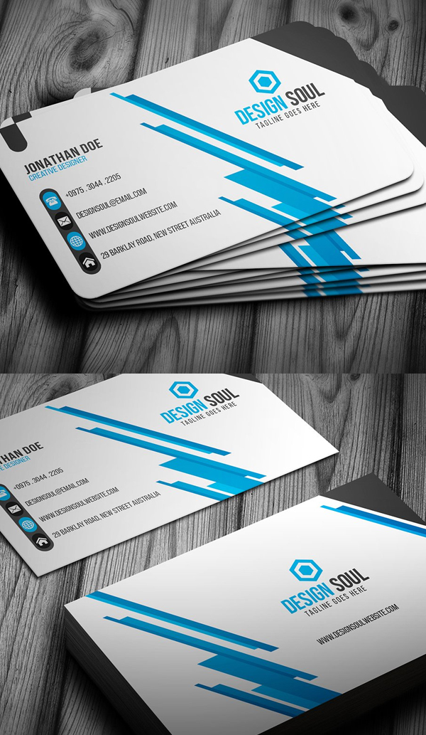 25 new modern business card templates print ready design design blue corporate business card design reheart Gallery