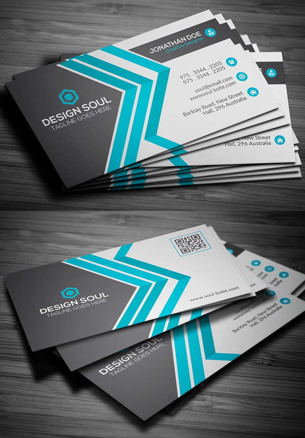 New Modern Business Card Templates Print Ready Design - Creative business card templates