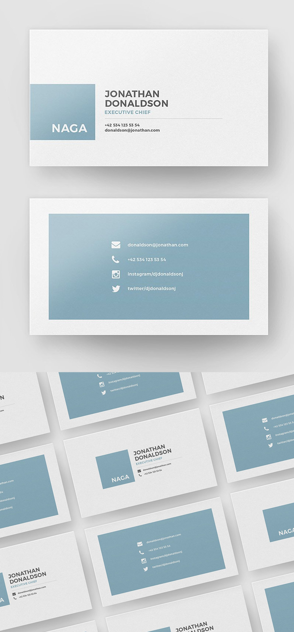 30 minimalistic business card designs psd templates design simple minimal business card template accmission Choice Image