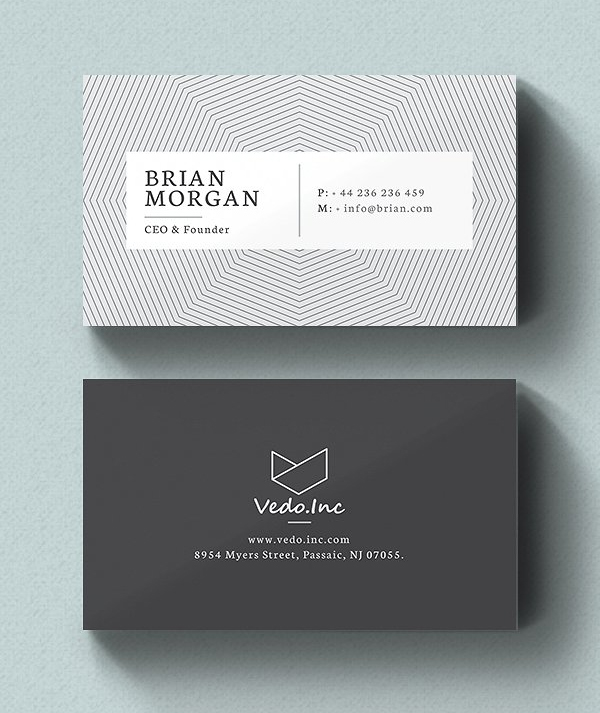 Minimalistic Business Card Designs PSD Templates Design - Personal business cards templates