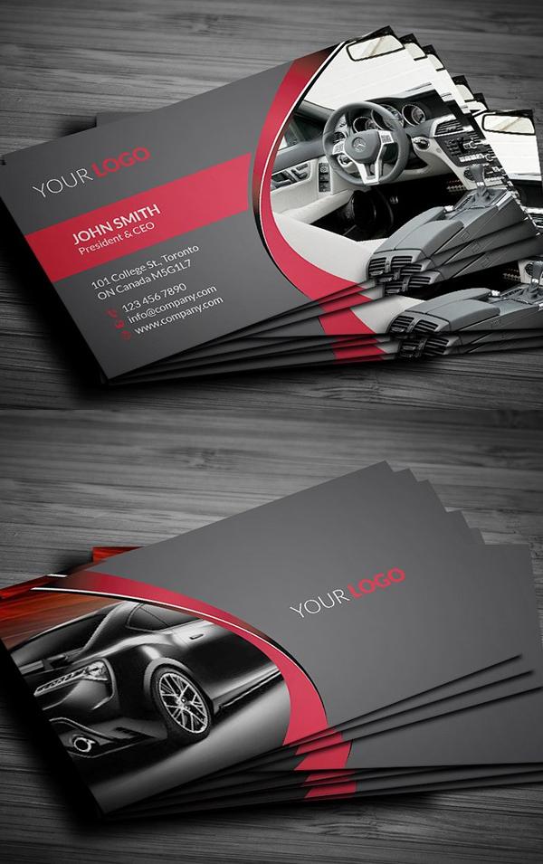 Rent A Car Business Card Design