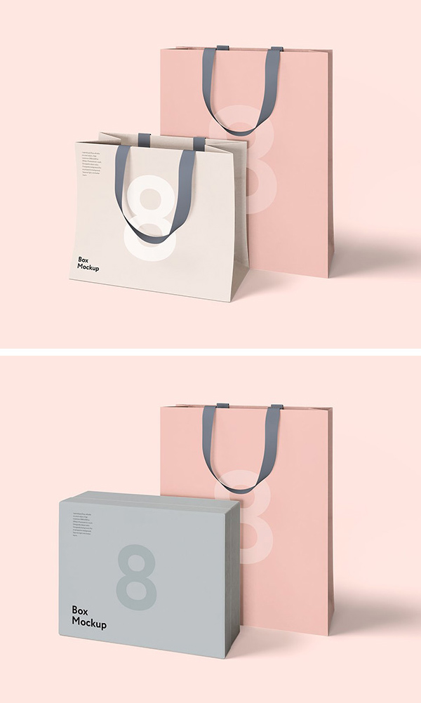 Free Luxury Box & Bag Mockups
