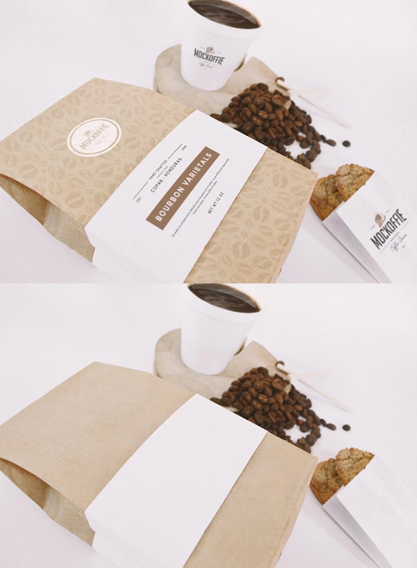 Coffee Bag And Cup Mockup Freebie