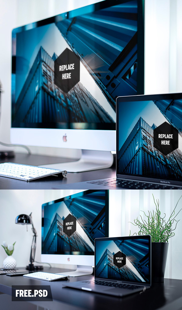 Free Business Container Realistic Mockup PSD