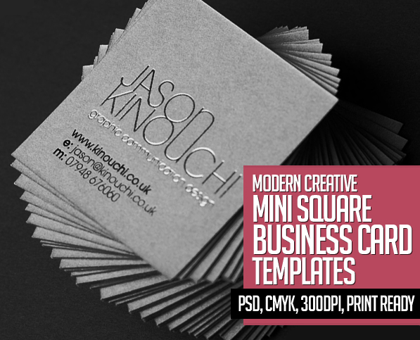 Mini square business card psd templates design graphic design 22 mini square business card psd templates design reheart Image collections