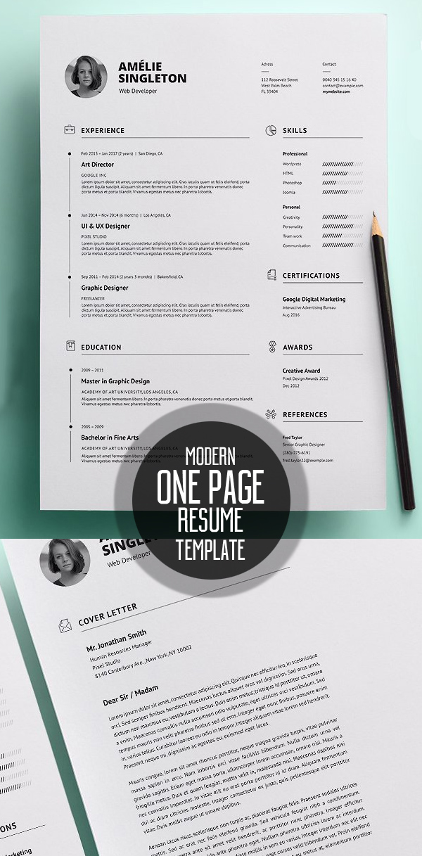 50 Best Minimal Resume Templates - 11