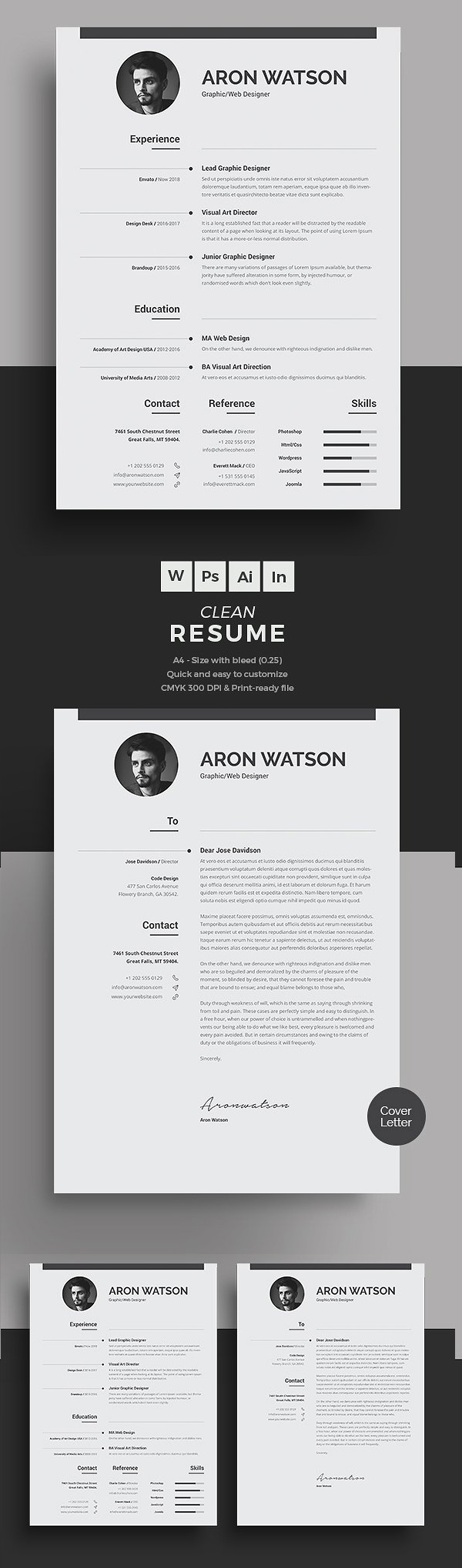 50 best minimal resume templates 12 - Resume Templates For Graphic Designers