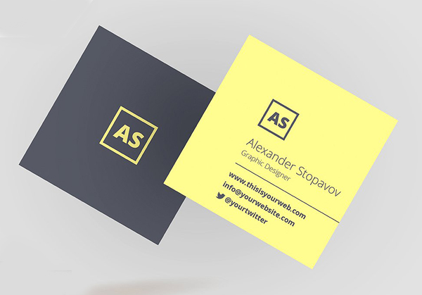 Mini Square Business Card PSD Templates | Design | Graphic Design ...
