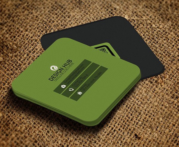 Square Business Card Design Template