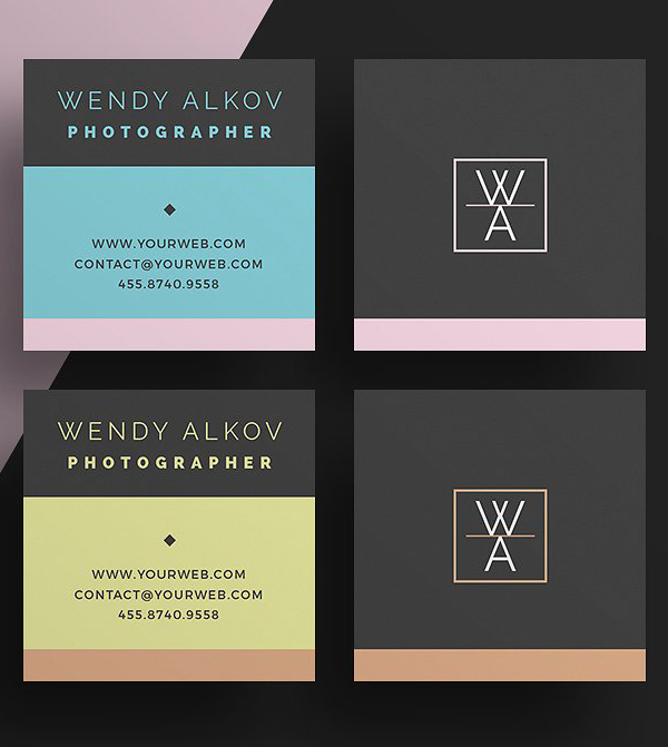 mini square business card psd templates design graphic design junction. Black Bedroom Furniture Sets. Home Design Ideas