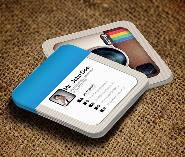 Creative Instagram Social Business Card Template