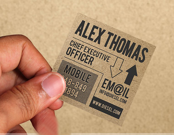 mini iconic kraft paper business card
