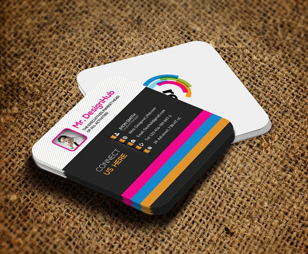 Mini Square Business Card PSD Templates Design Graphic Design - Design business card template