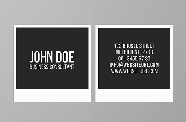 Mini Square Business Card PSD Templates Design Graphic Design - Square business card template