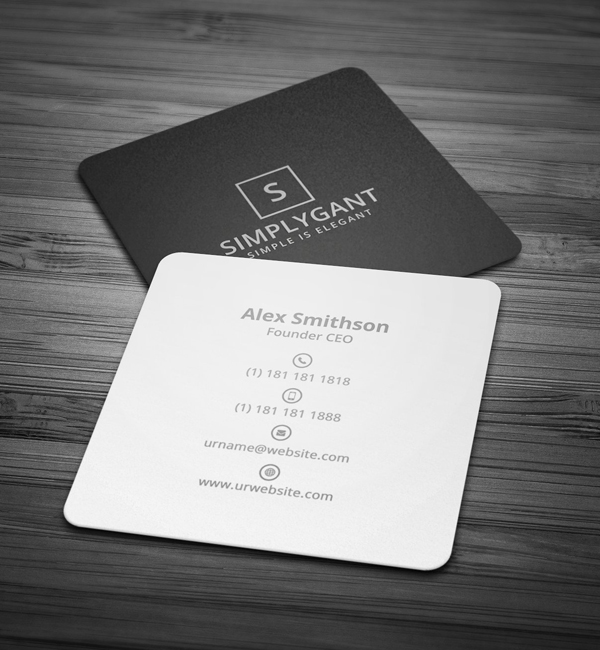 Mini square business card psd templates design graphic design mini square minimal business card reheart Image collections