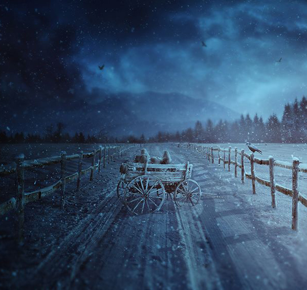 How to Create a Winter Rural Photo Manipulation Scene With Adobe Photoshop