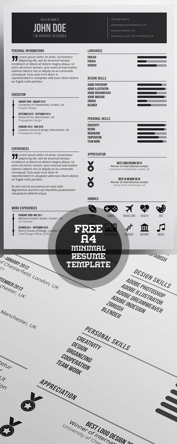50 Free Resume Templates: Best Of 2018 -  38