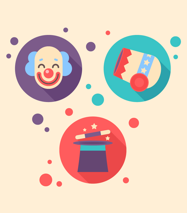 Free Set of Circus Icons