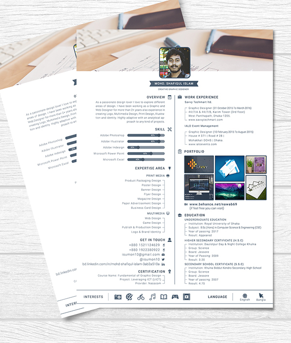 Free One Page Resume Template