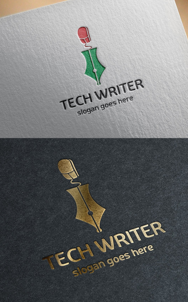 Tech Writer Logo Template