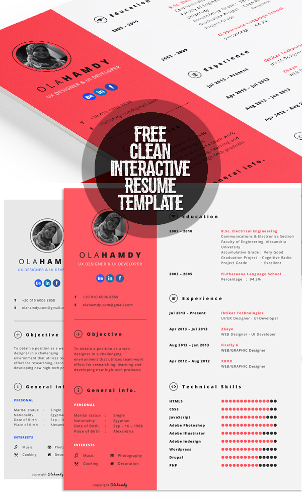 fresh free resume templates